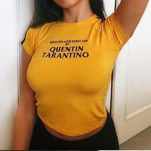 Coming soon❣️ Quentin Tarantino Yellow Cropped Tee